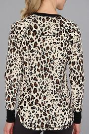 The Dressing Room Leopard Velour Top - Front full body