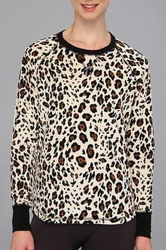 The Dressing Room Leopard Velour Top - Product List Image