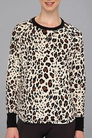 The Dressing Room Leopard Velour Top - Front cropped