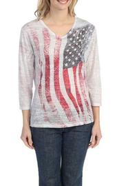 The Dressing Room Wavy Flag Top - Product Mini Image