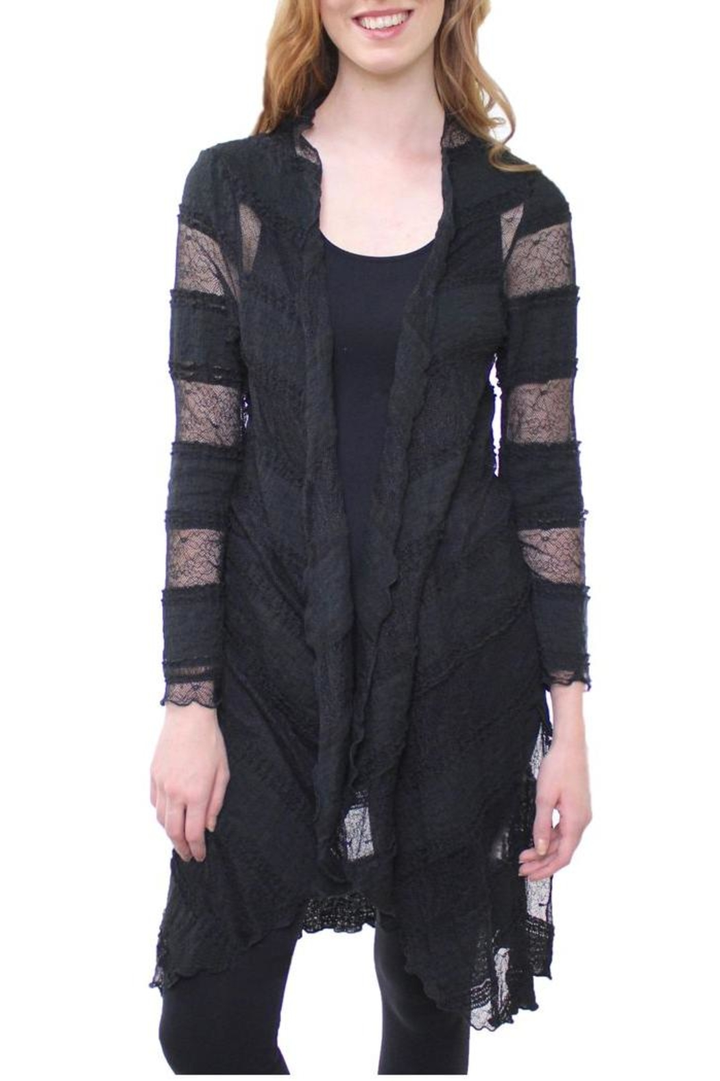 The Dressing Room Long Lace Duster - Front Cropped Image