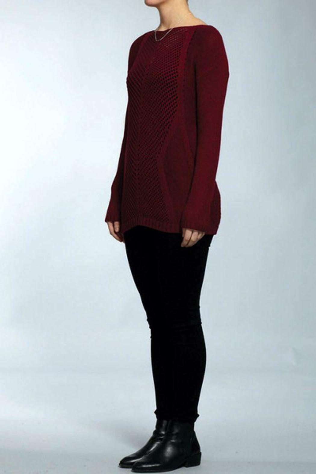 The Dressing Room Mix Stitch Pullover - Front Full Image