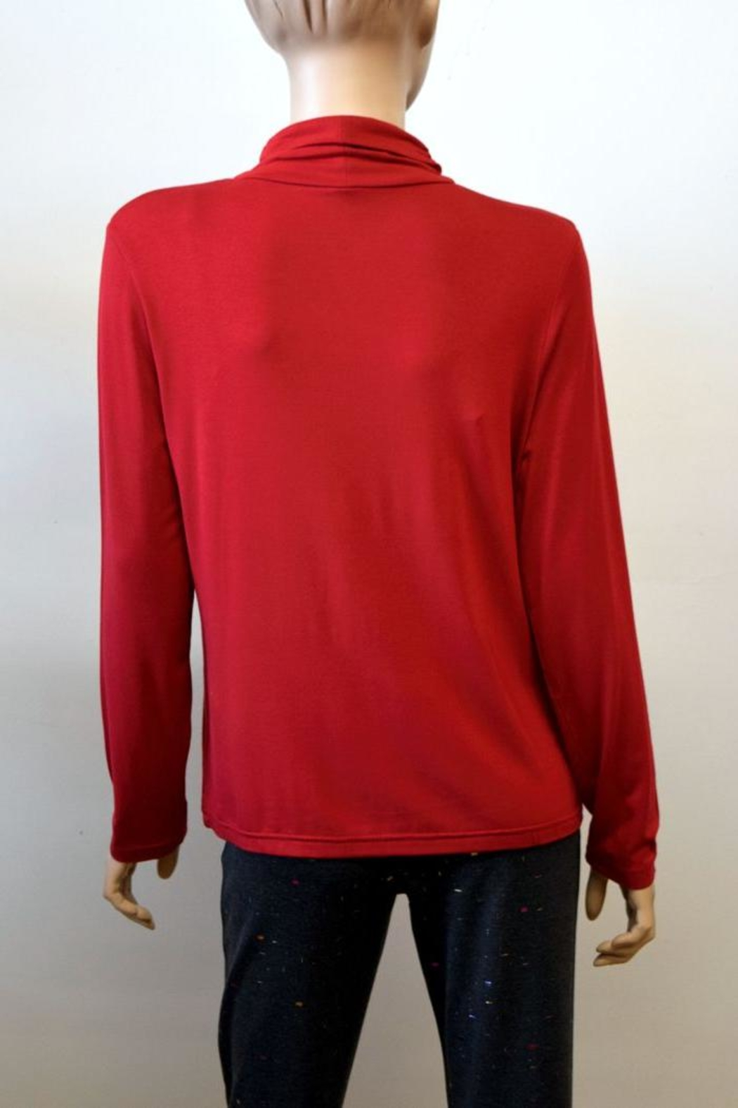 The Dressing Room Mock Neck Rouched - Back Cropped Image