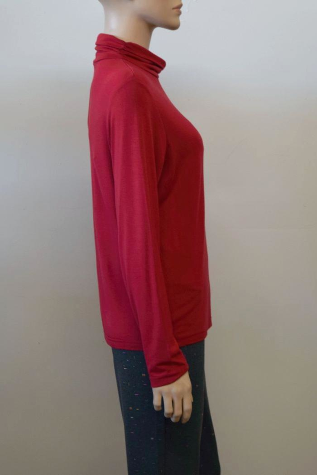The Dressing Room Mock Neck Rouched - Front Full Image