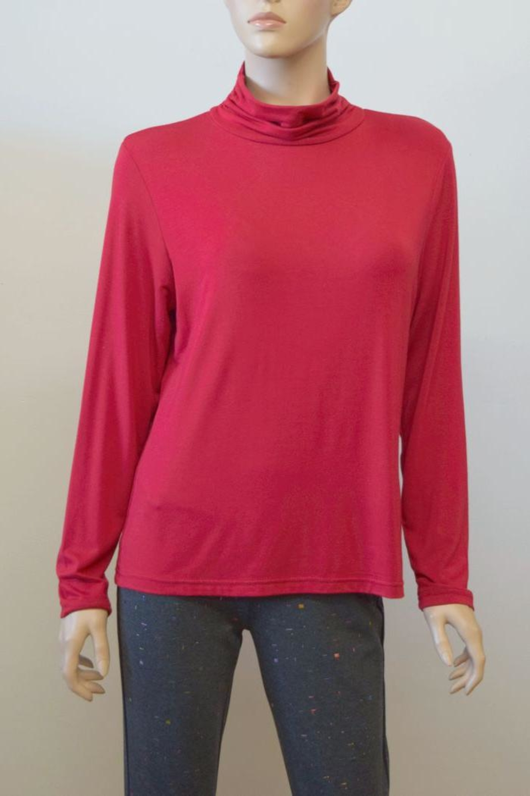 The Dressing Room Mock Neck Rouched - Main Image