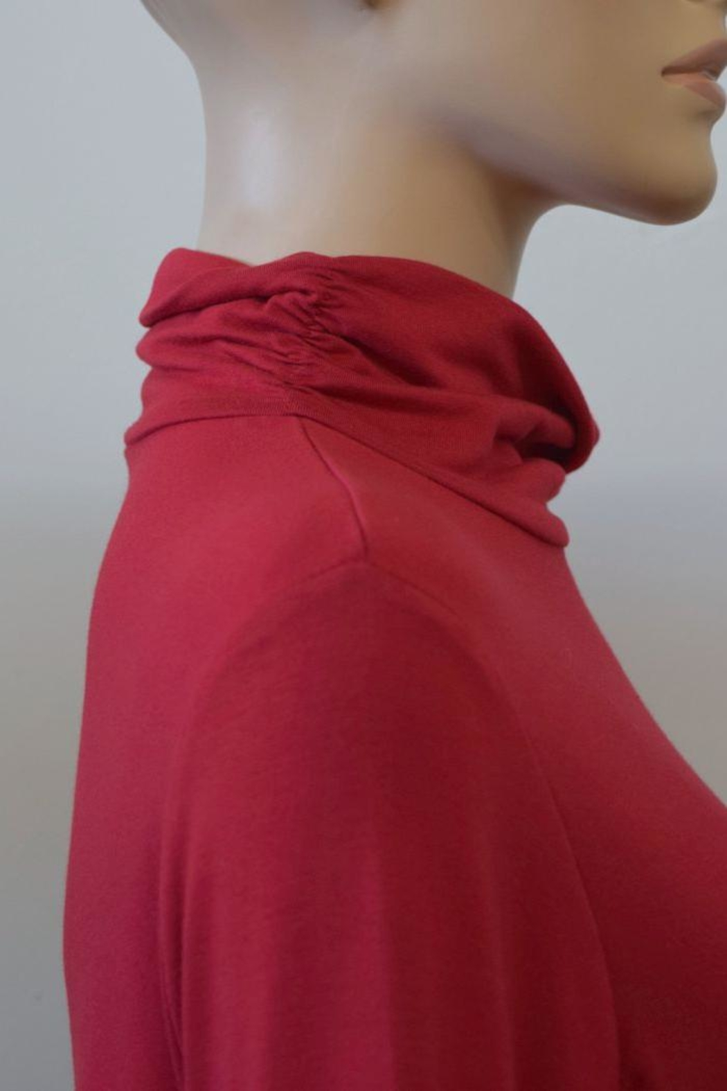 The Dressing Room Mock Neck Rouched - Side Cropped Image