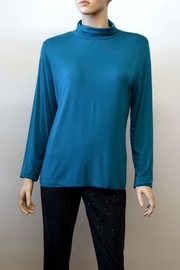 The Dressing Room Mock Neck Rouched - Front cropped