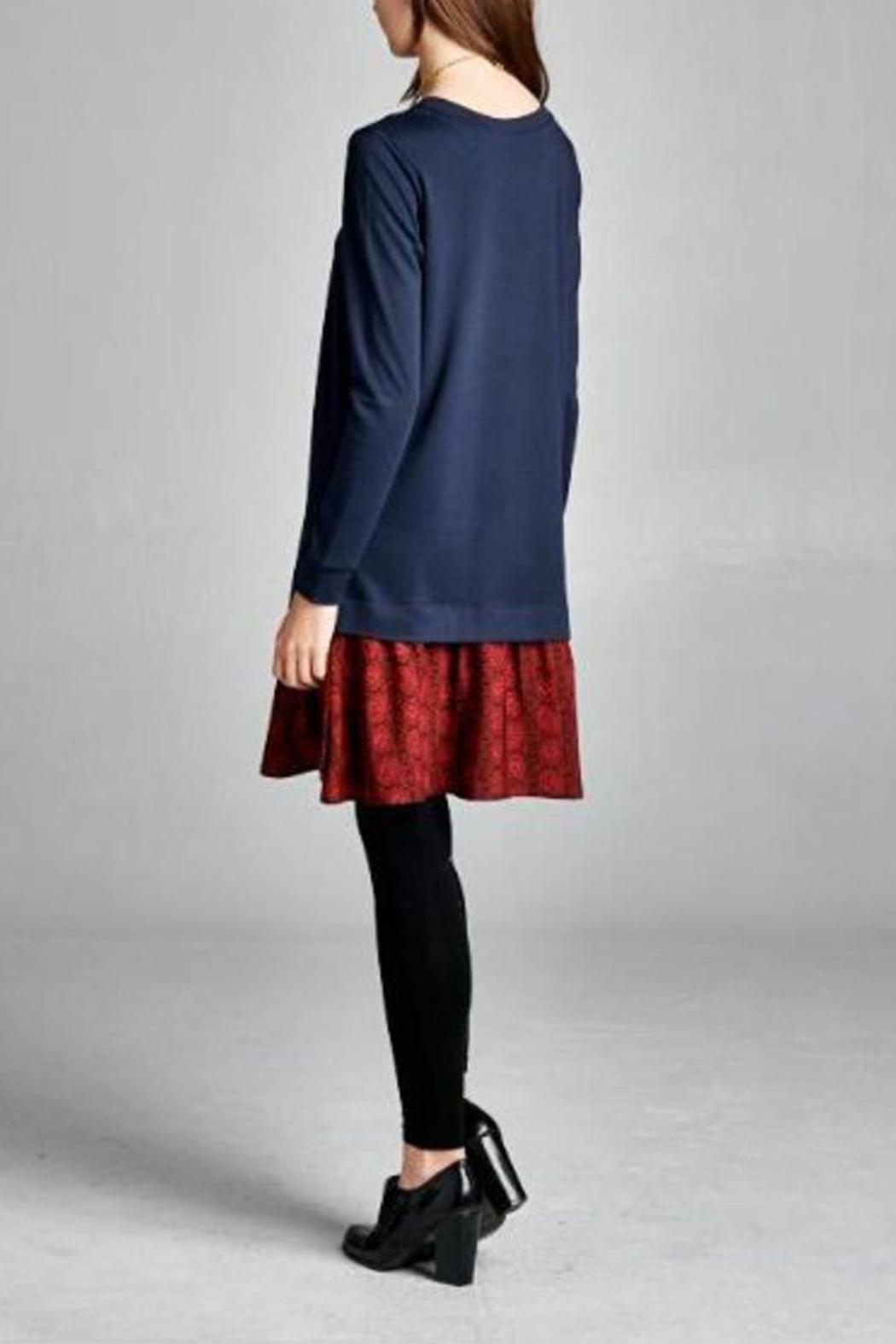 The Dressing Room Navy Red Dress - Side Cropped Image