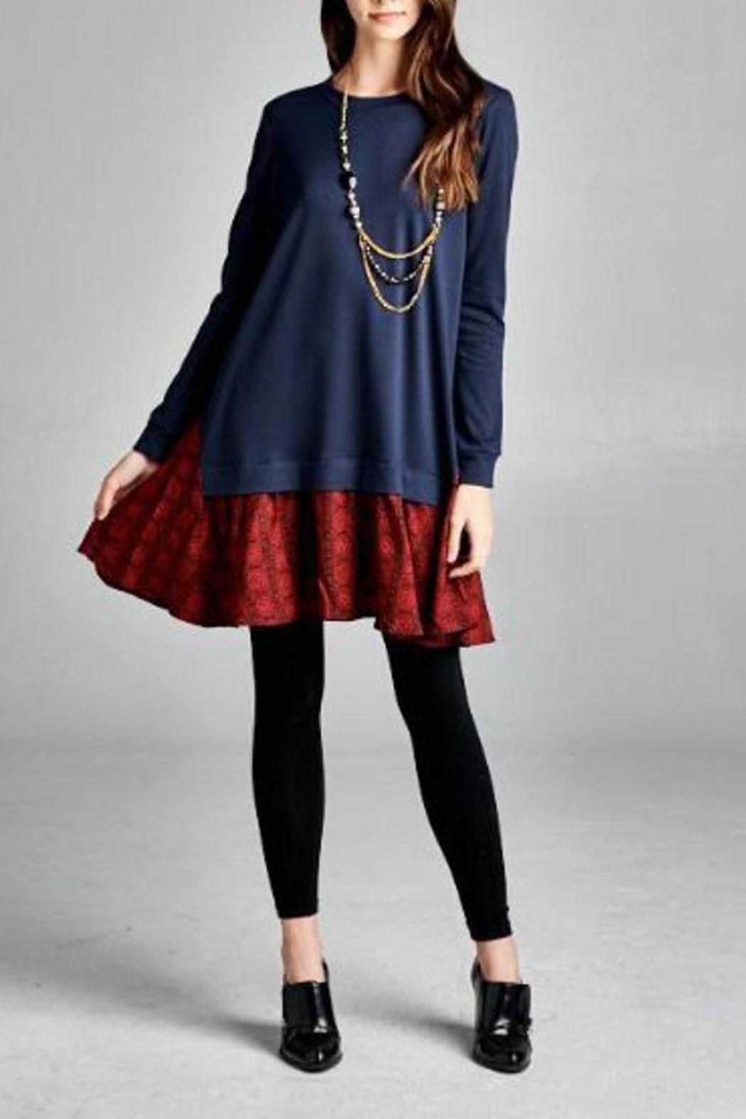 The Dressing Room Navy Red Dress - Main Image