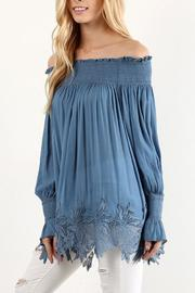 The Dressing Room Off Shoulder Blue - Side cropped