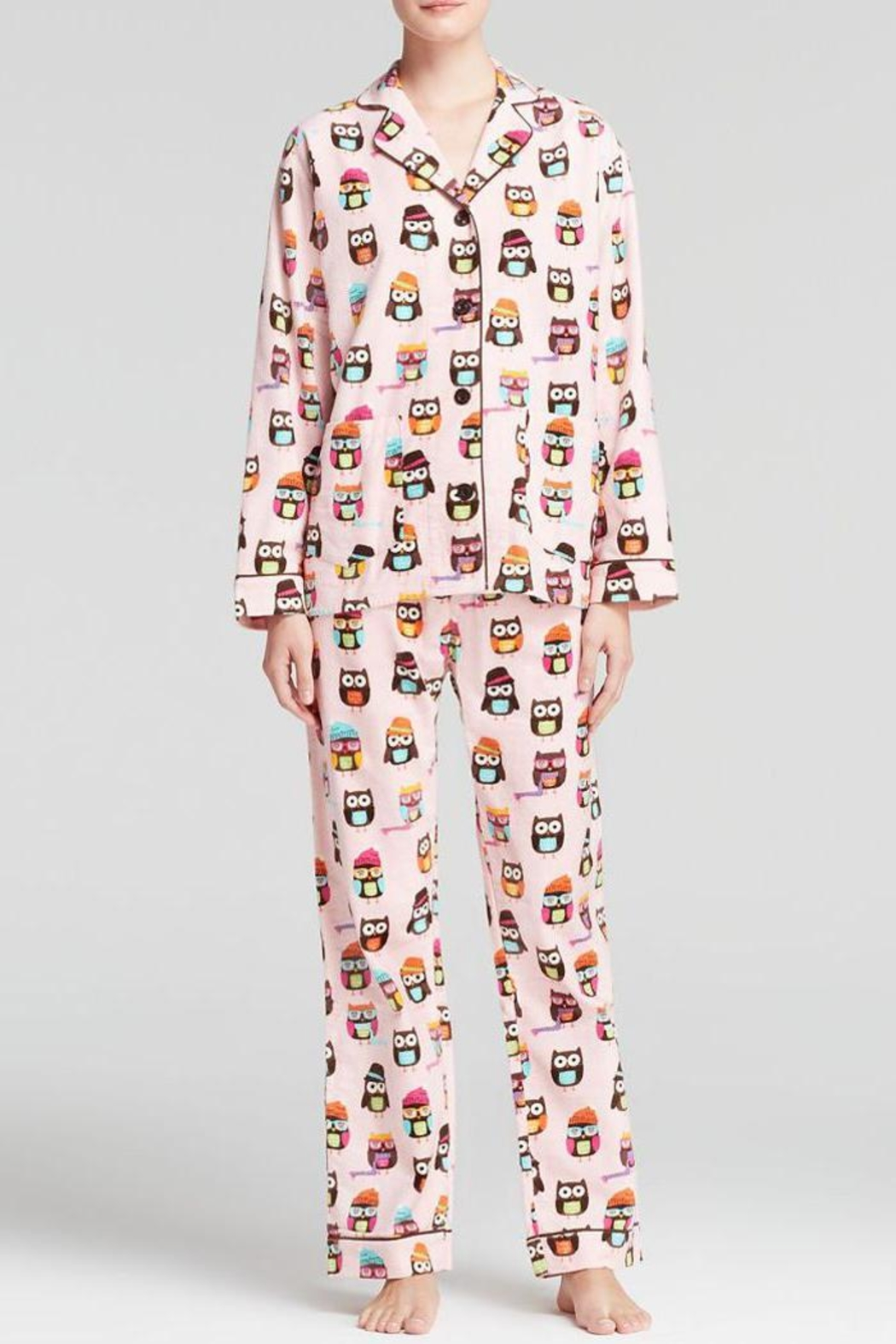 The Dressing Room Owl Print Flannel - Main Image