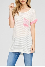 The Dressing Room Pink Pocket Tee - Product Mini Image