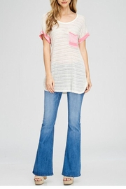 The Dressing Room Pink Pocket Tee - Back cropped