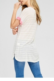 The Dressing Room Pink Pocket Tee - Side cropped