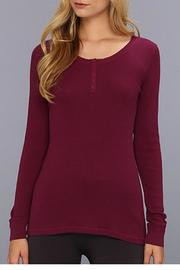 The Dressing Room Plum Color Henley - Product Mini Image