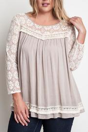 The Dressing Room Plus Lace Blouse - Product Mini Image