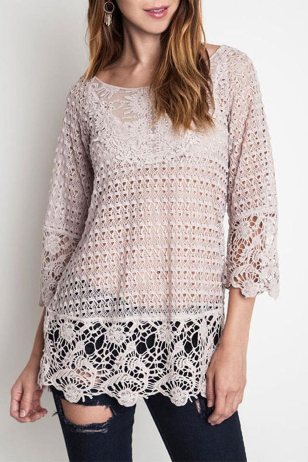 The Dressing Room Plus Lace Tunic - Front Cropped Image
