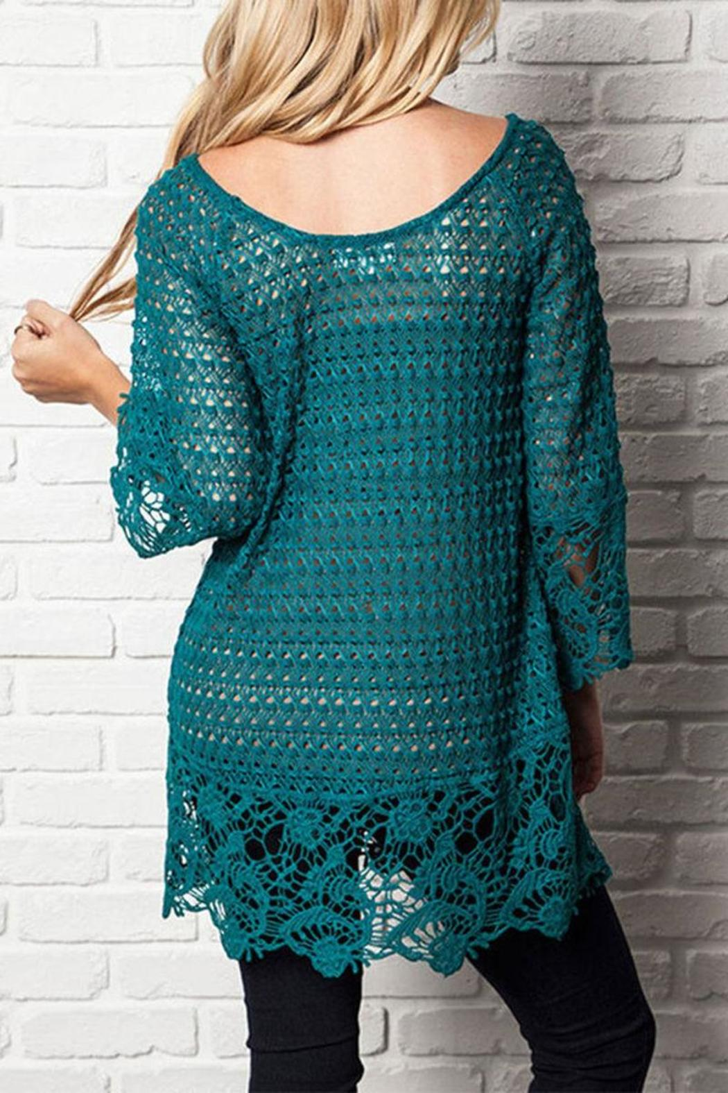The Dressing Room Plus Lace Tunic - Front Full Image