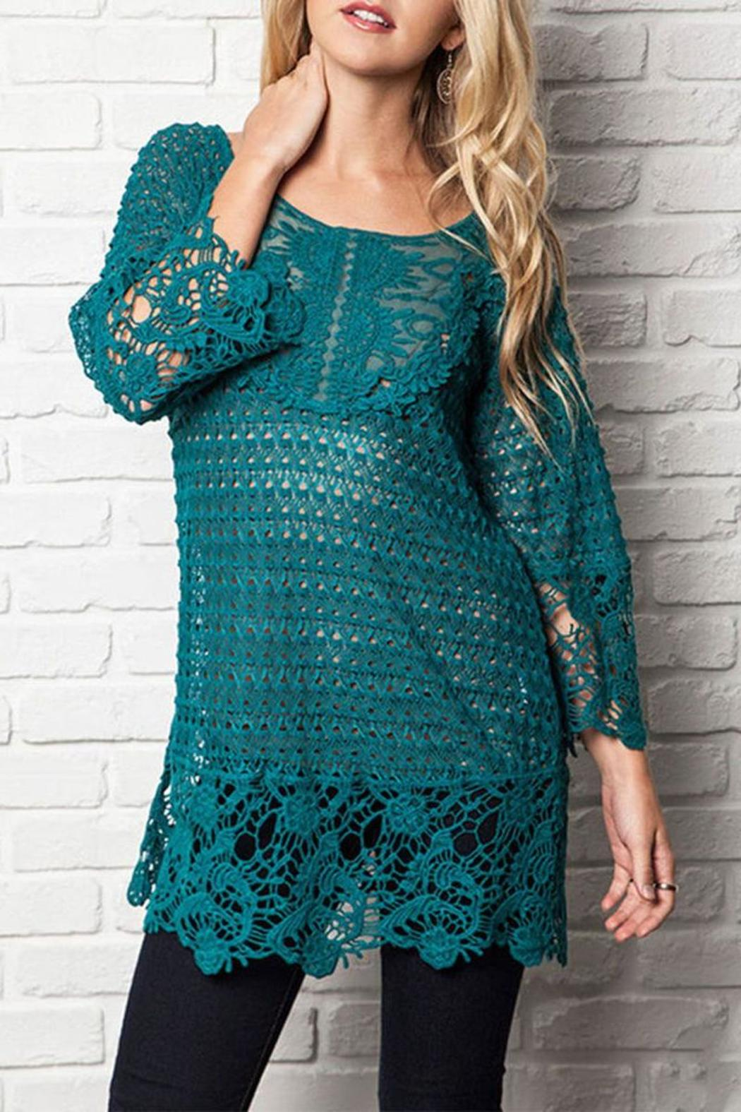 The Dressing Room Plus Lace Tunic - Main Image