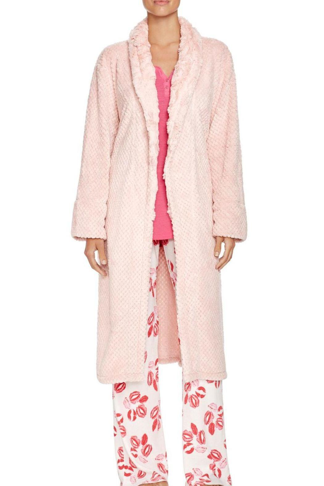 The Dressing Room Waffle Blush Robe - Front Cropped Image