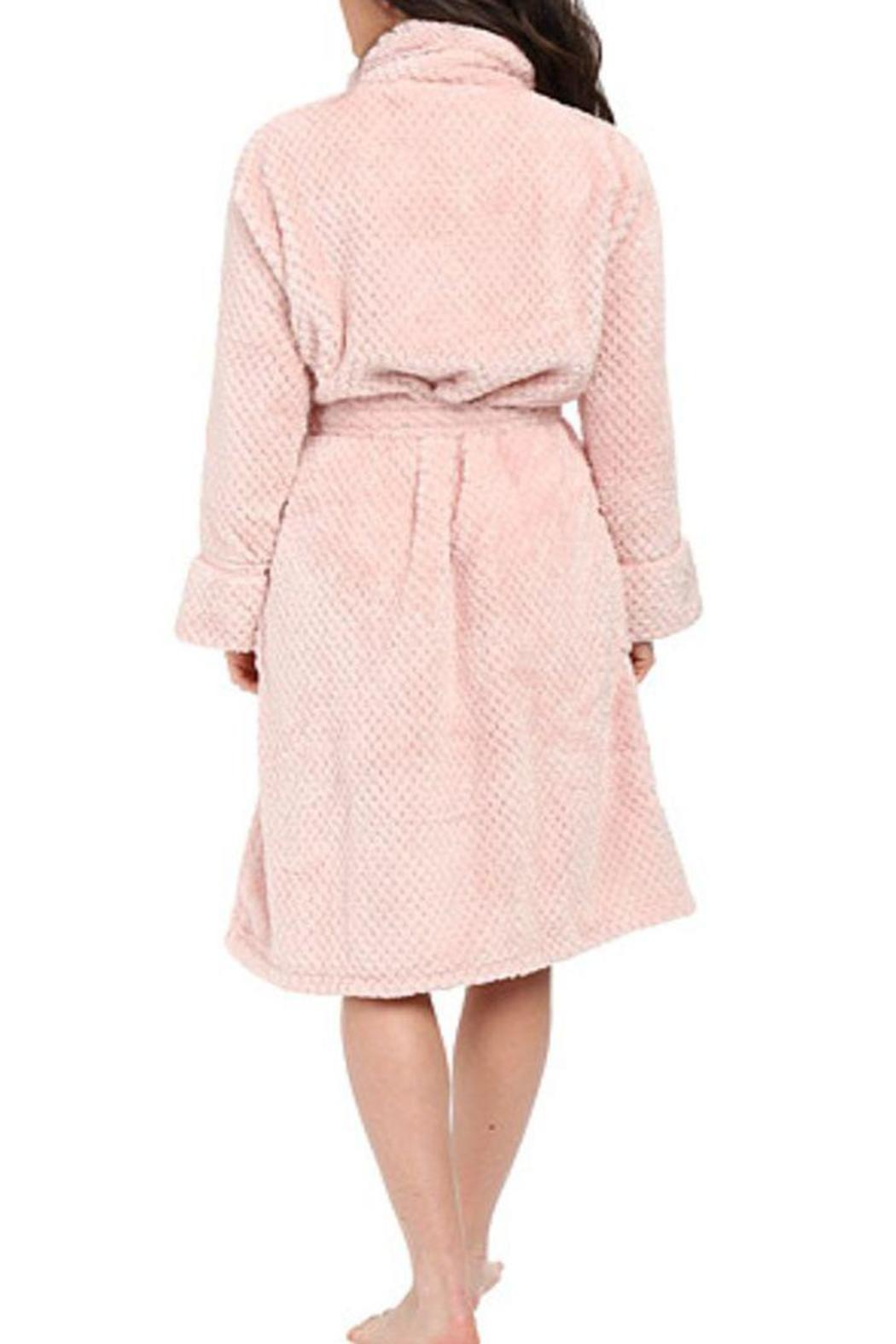 The Dressing Room Waffle Blush Robe - Front Full Image