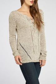 The Dressing Room Ribbon Yarn Sweater - Side cropped