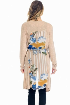 The Dressing Room Scarf-Print Inset Cardi - Product List Image