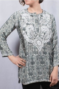 The Dressing Room Silk Embroidered Tunic - Alternate List Image