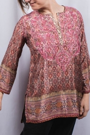 The Dressing Room Silk Embroidered Tunic - Product Mini Image