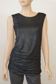 The Dressing Room Silver Rouched Top - Front cropped