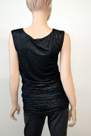The Dressing Room Silver Rouched Top - Front full body