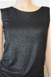 The Dressing Room Silver Rouched Top - Side cropped
