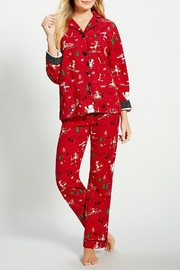 The Dressing Room Skiing Foxes Flannel - Front full body