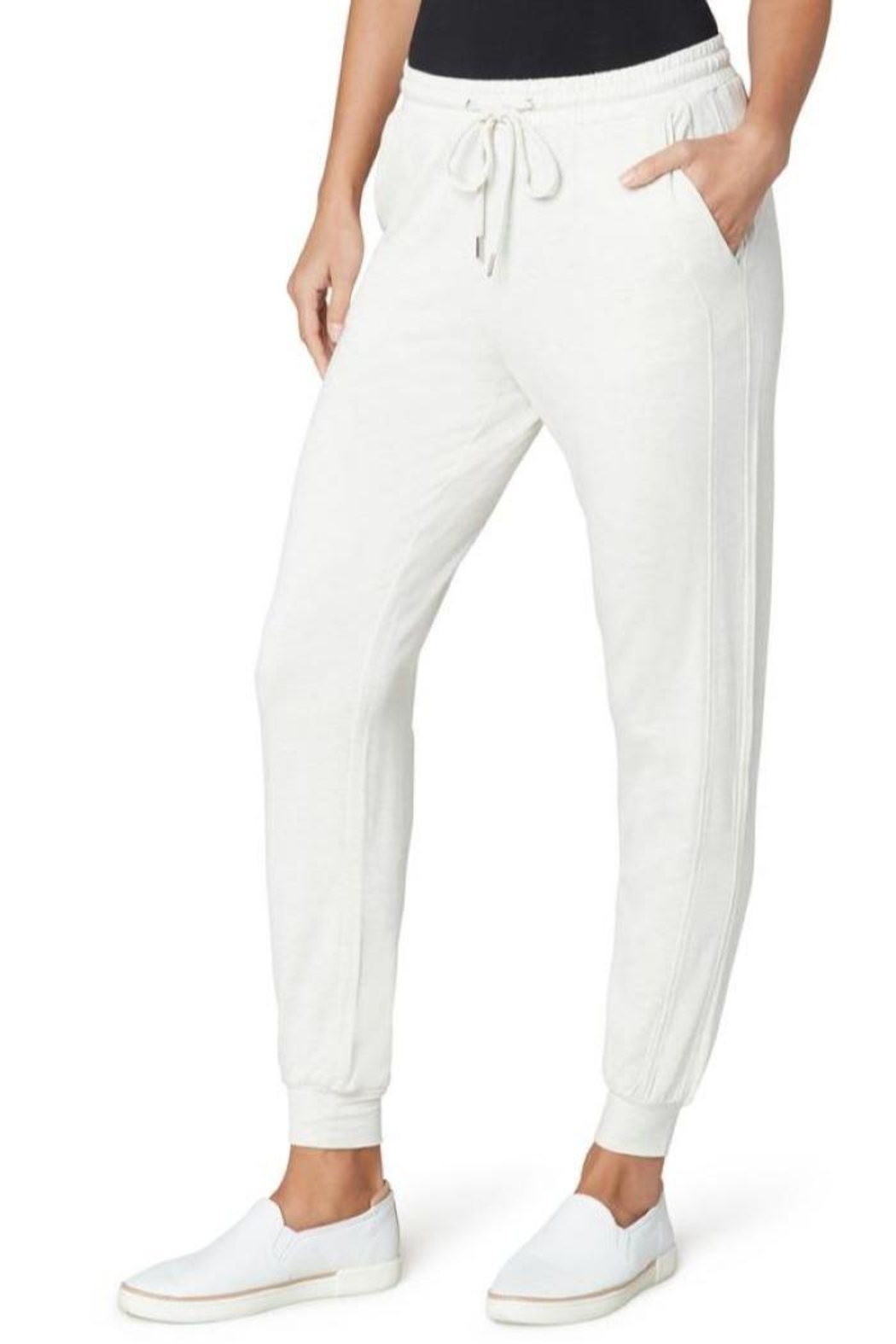 The Dressing Room Soft Drawstring Jogger - Front Cropped Image