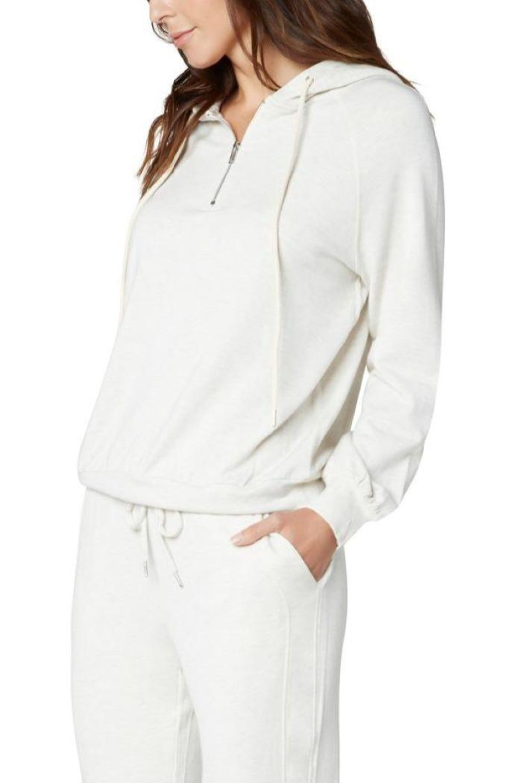 The Dressing Room Soft Zip Hoodie - Side Cropped Image