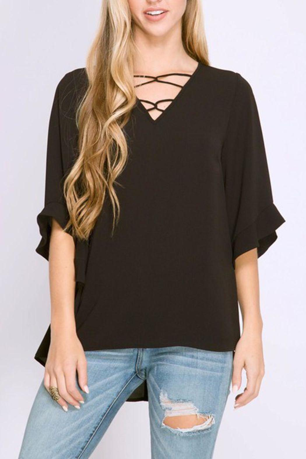 The Dressing Room Strappy Neckline Top - Main Image