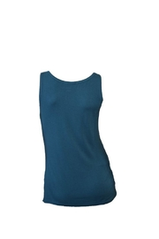 The Dressing Room Teal Sequin Tank - Front full body