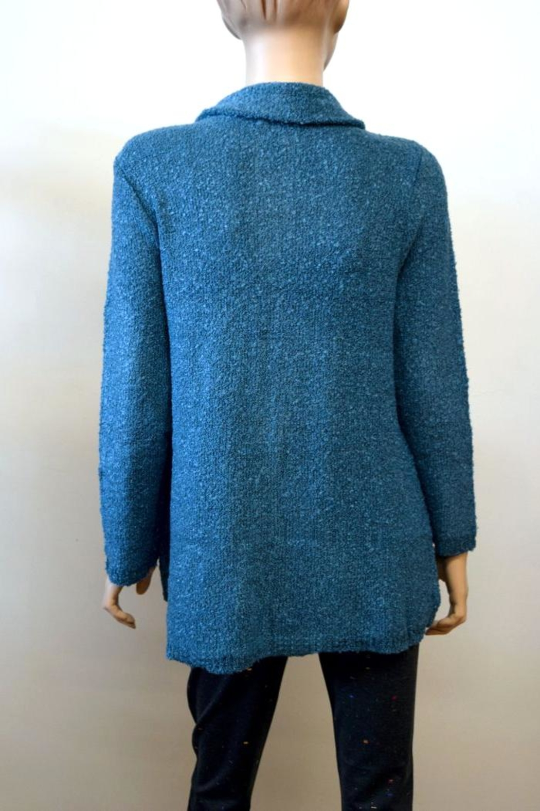 The Dressing Room Textured Blue Sweater - Front Full Image