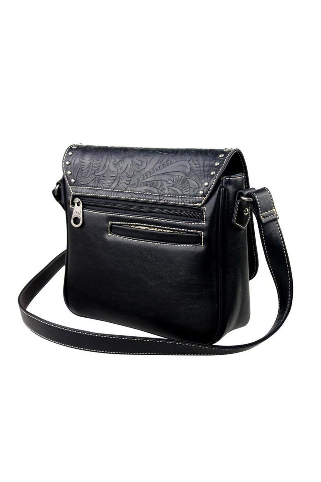 The Dressing Room Tooled Flap Handbag - Front Full Image