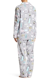 The Dressing Room Travel Theme Flannel - Front full body