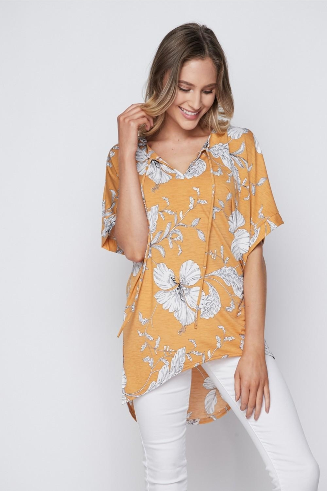 The Dressing Room Tropical Gold Top - Main Image