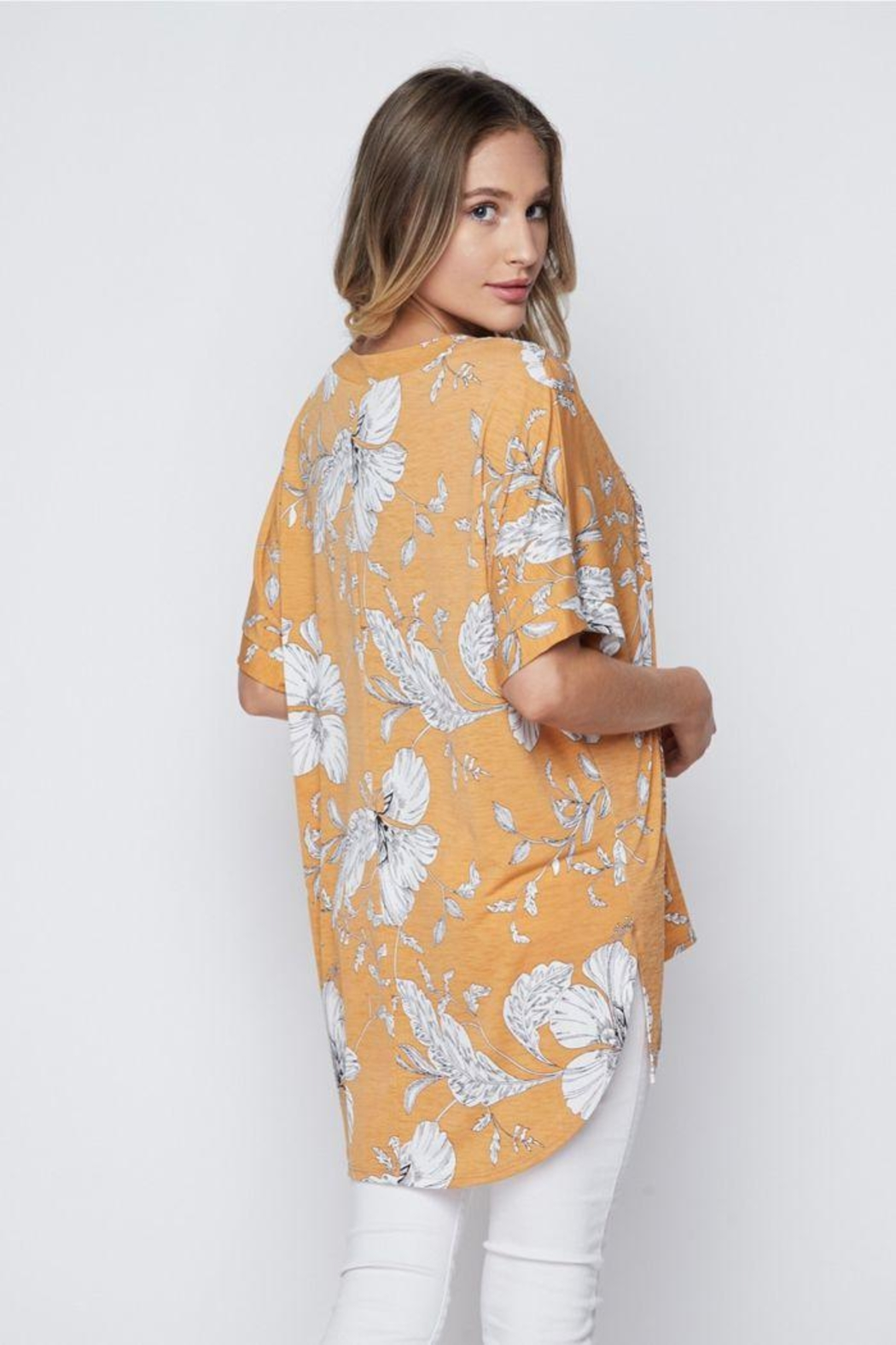 The Dressing Room Tropical Gold Top - Front Full Image