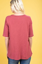 The Dressing Room Twist Neck Tee - Back cropped
