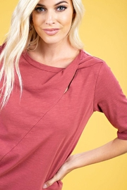 The Dressing Room Twist Neck Tee - Side cropped