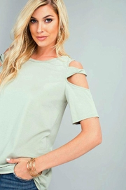 The Dressing Room Twist-Strap Cold Shoulder - Front full body