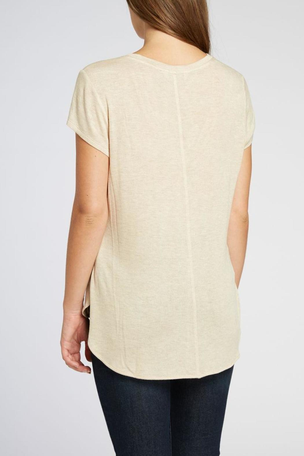 The Dressing Room V-neck Hi-Low Tee - Side Cropped Image