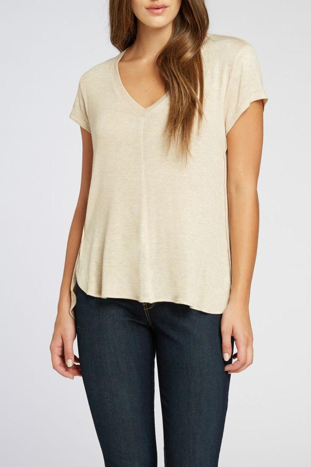The Dressing Room V-neck Hi-Low Tee - Main Image