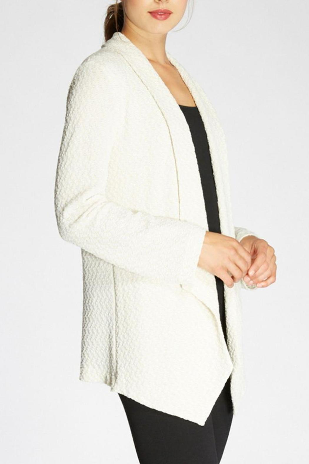 The Dressisng Room Metallic Knit Jacket - Front Full Image
