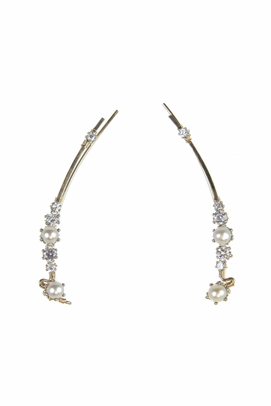 The Ear Vine Ear Vine Pearl Earrings - Main Image