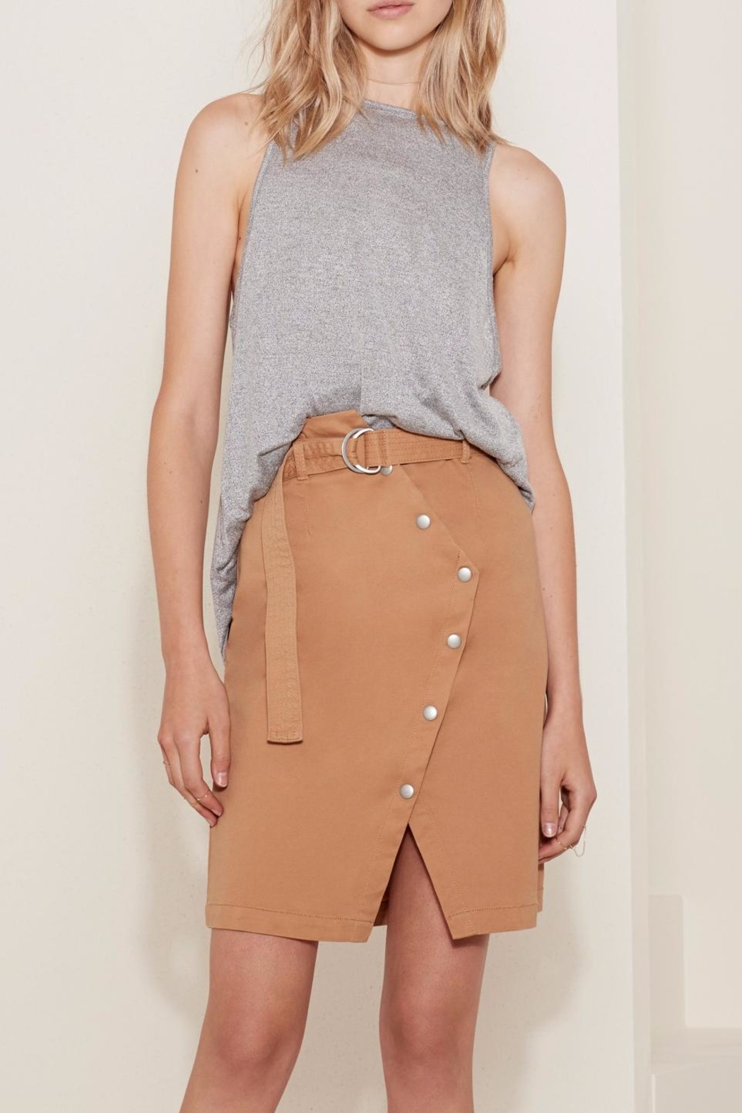 The Fifth Label Belted Wrap Skirt - Front Cropped Image